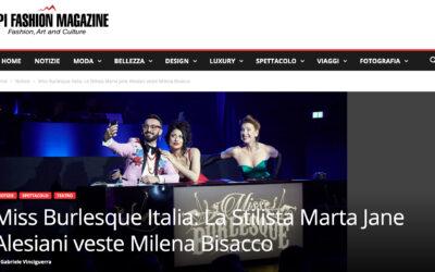 Miss Burlesque Italia: La Stilista Marta Jane Alesiani veste Milena Bisacco