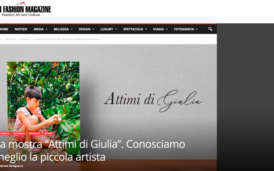 """La mostra """"Attimi di Giulia"""". Conosciamo meglio la piccola artista"""