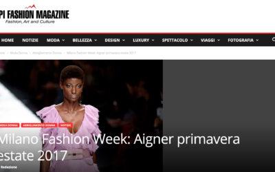 Milano Fashion Week: Aigner primavera estate 2017