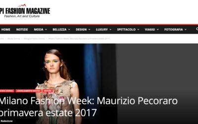 Milano Fashion Week: Maurizio Pecoraro primavera estate 2017