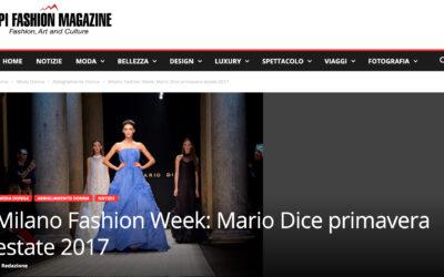 Milano Fashion Week: Mario Dice primavera estate 2017