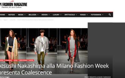 Atsushi Nakashima alla Milano Fashion Week presenta Coalescence
