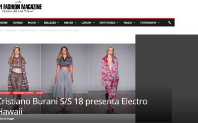 Cristiano Burani S/S 18 presenta Electro Hawaii