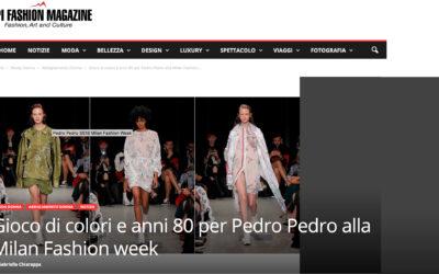 Gioco di colori e anni 80 per Pedro Pedro alla Milan Fashion week