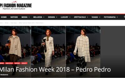 Milan Fashion Week 2018 – Pedro Pedro