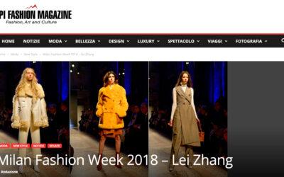 Milan Fashion Week 2018 – Lei Zhang