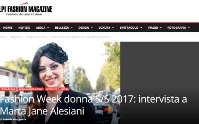 Fashion Week donna S/S 2017: intervista a Marta Jane Alesiani